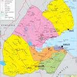 Geopolitical Map Of Djibouti Djibouti Maps Worldmaps Info
