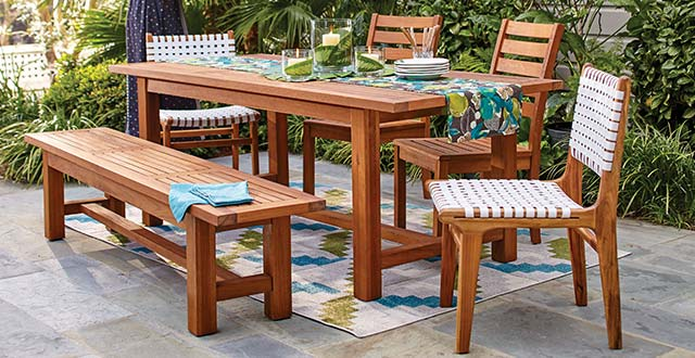 affordable outdoor wood furniture