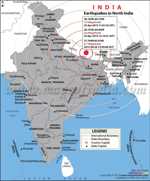 location-map-of-earthquake-on-25-april-2015-in-entire-india