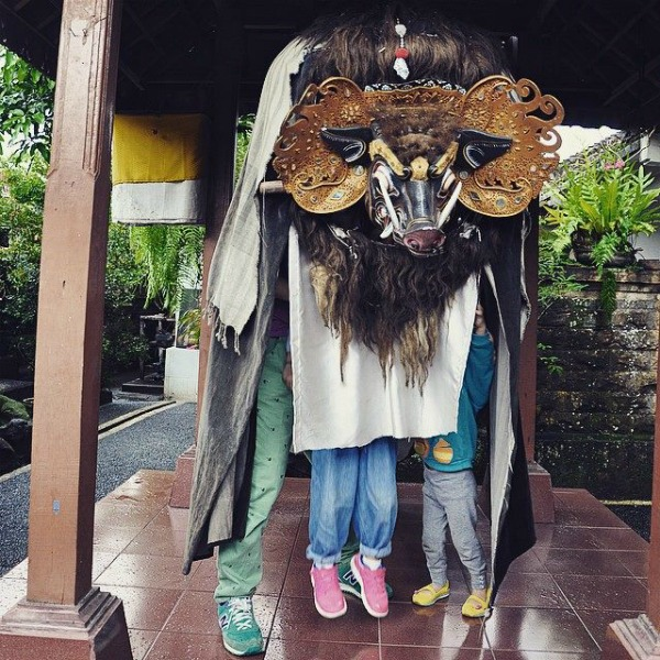 Kids in Balinese Mask
