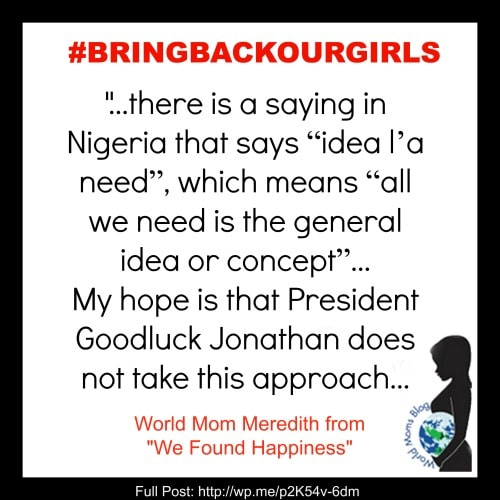 """WORLD VOICE: """"Idea l'a Need"""" #BRINGBACKOURGIRLS"""