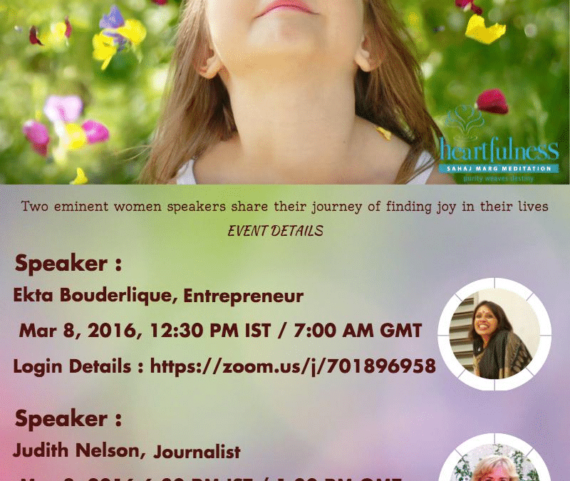World Events: Women's Day Webinar Invitation From #Heartfulness Institute