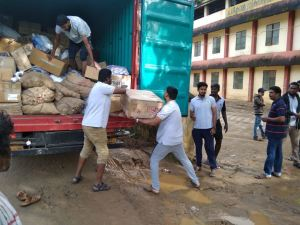 Sanitary Napkins Being Transported to Kerala