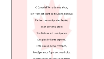 Canada National Anthem Lyrics in English