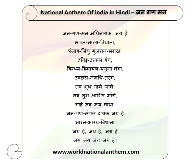 Hindi Version Of Jana Gana Mana
