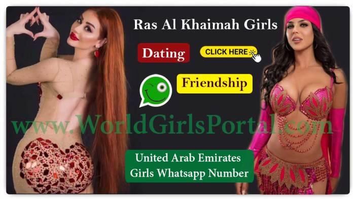 Ras Al Khaimah Girls WhatsApp Numbers for Chat Online, Friendship, Housewives, College Girls in UAE