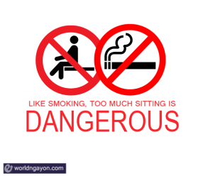 sitting is dangerous to health