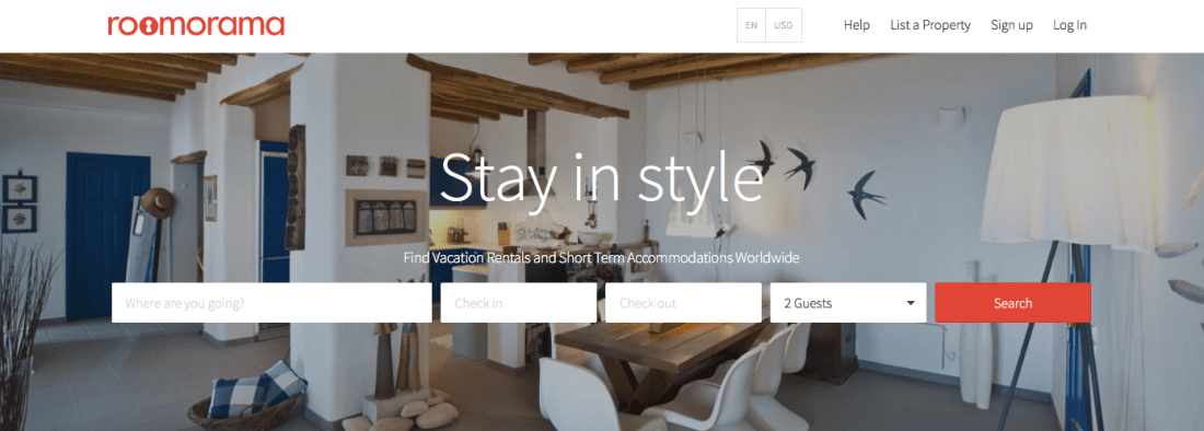Vacation Rentals with Roomorama