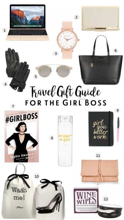 World of A Wanderer's Travel Gift Guide for the Girl Boss