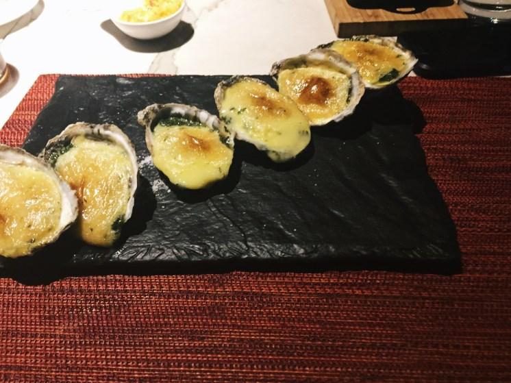 Baked Oysters at AG Ritz Carlton, Atlanta www.worldofawanderer.com