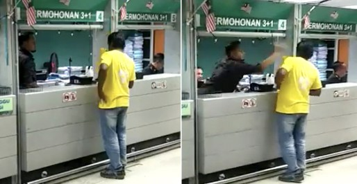 immigration-officer-disrespectfully-smacks-foreigners-head-in-viral-video-netizens-enraged-world-of-buzz Malaysian Complains We Should Stop Giving Jobs To Foreign Workers, Gets Backlash Instead