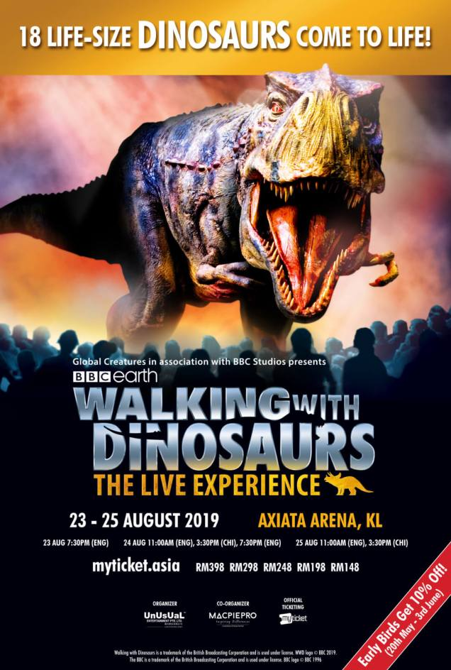 You Will NOT Want to Miss These Super Realistic Dinosaurs in KL This August 2019! - WORLD OF BUZZ 1