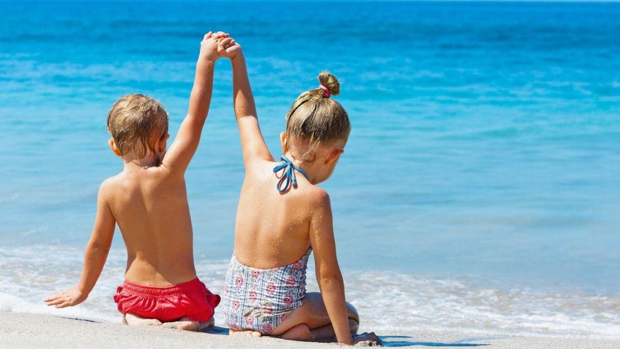 Children on beach min