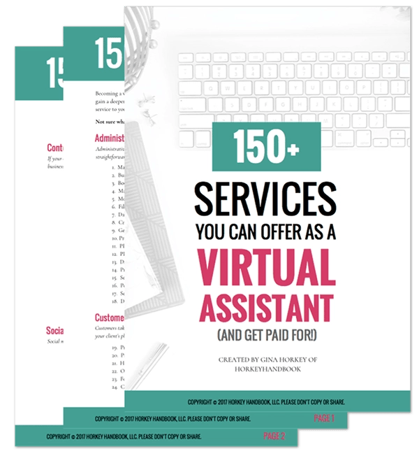 150+ Virtual Assistant services that you can offer when you learn how to be a virtual assistant from home