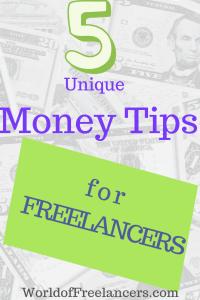5 Uniqe Money Tips for Freelancers Pinterest image