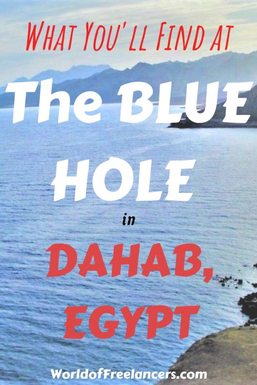 What You'll Find at the Blue Hole, Dahab, Egypt