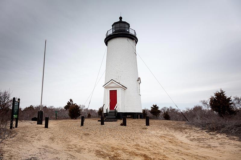 Cape Poge Lighthouse On Chappaquiddick Island, Massachusetts