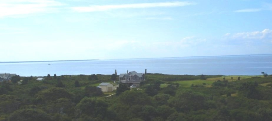 Aerial view of home on Cape Poge, Massachusetts