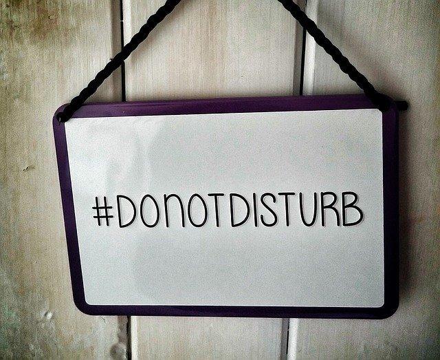 #DoNotDisturb sign