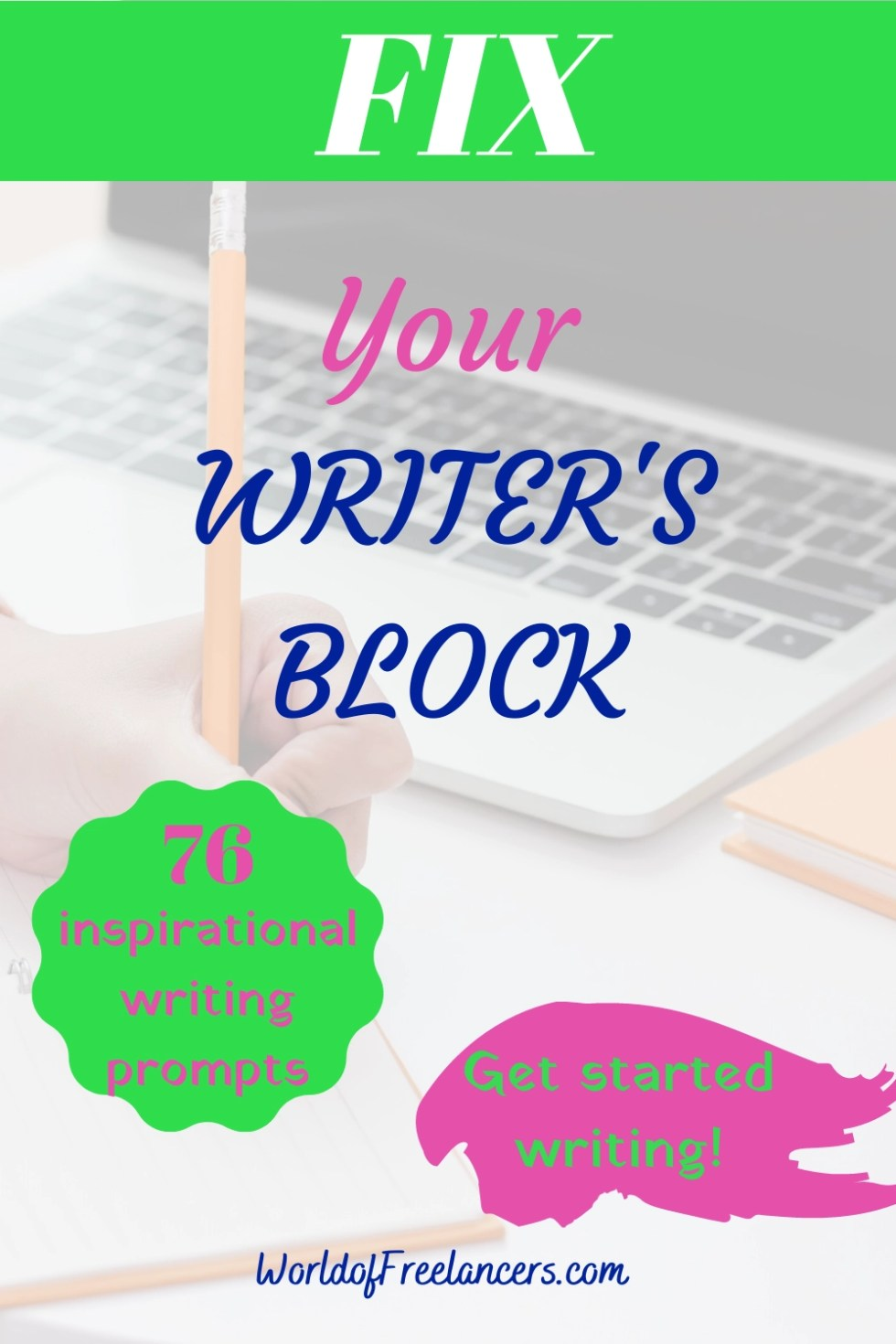 Fix Your Writer's Block - Pinterest image