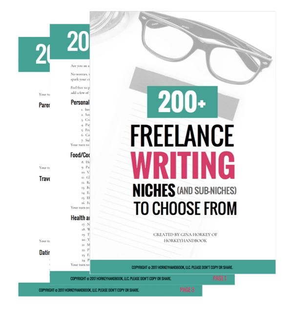 200-plus writing niches by Horkey Handbook which will help you see how to make money while traveling