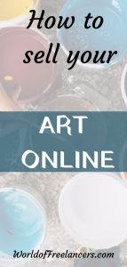 How to sell your art online as a freelance artist Pinterest image