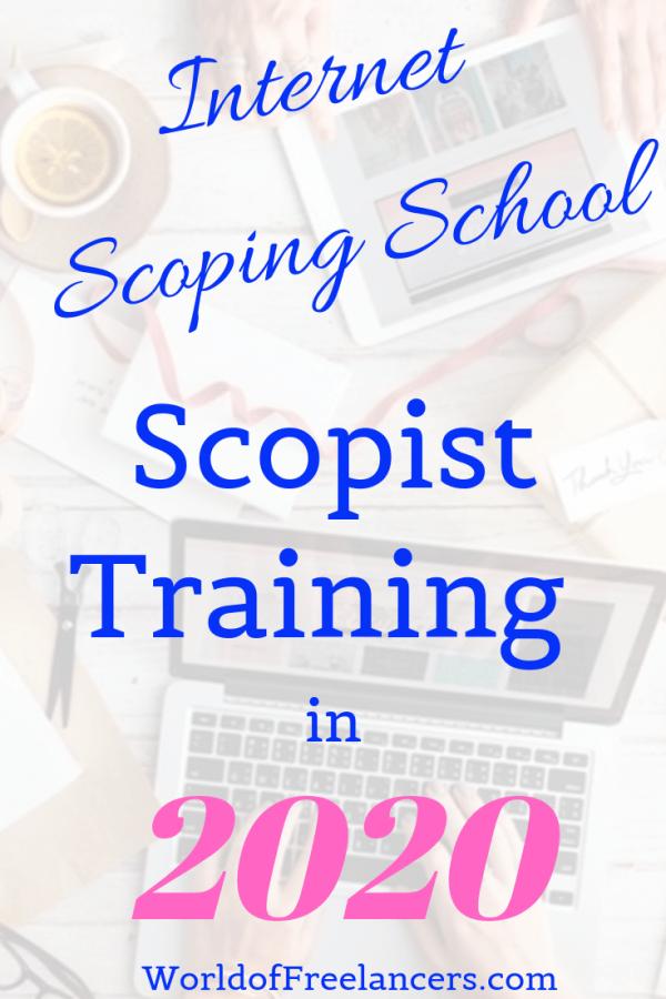Internet Scoping School scopist training in 2020
