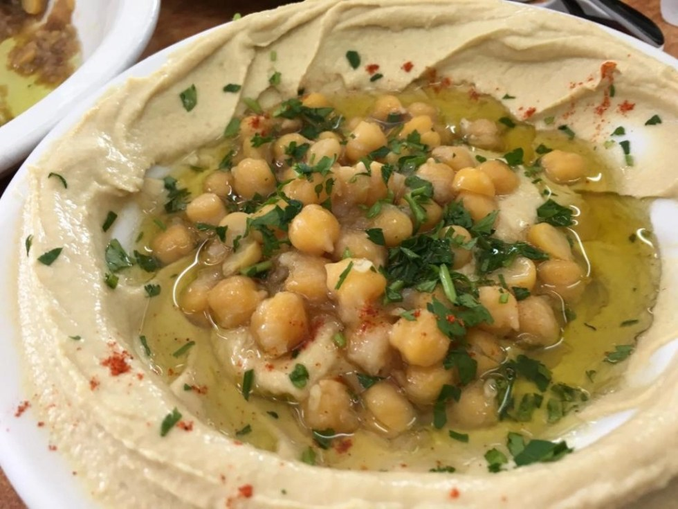 Israeli hummus, which you must try on a trip to Israel