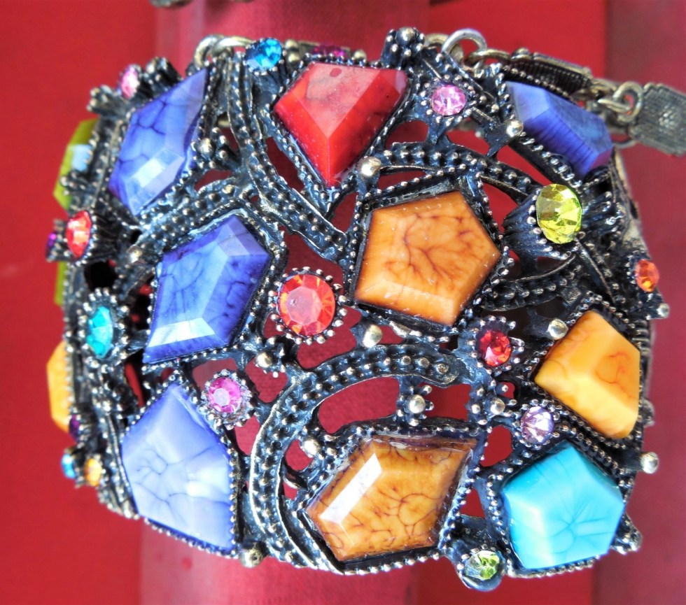Colorful custume jewelry ring in Khan el Khalili souq in Egypt