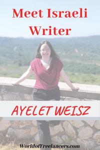 Meet Israeli Writer Ayelet Weisz Pinterest image