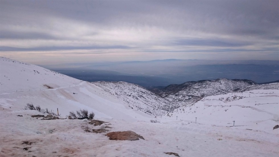 Snow-covered Mount Hermon, Israel