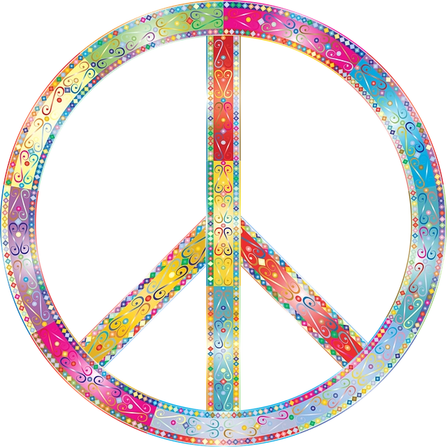 Peace sign representing peace which can lead to an increase in productivity