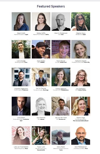 Remote Work Summit 2019 featured speakers