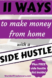 11 ways to make money from home with a side hustle