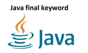Java final keyword
