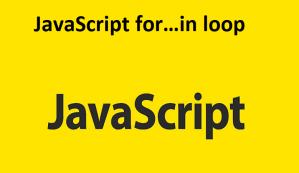 JavaScript for…in loop