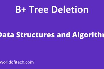 B+ Tree Deletion