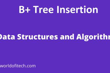 B+ Tree Insertion