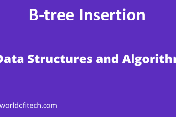B-tree Insertion