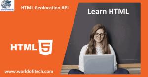 HTML Geolocation API