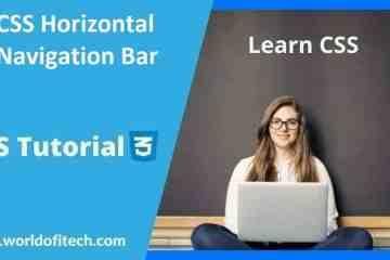 CSS Horizontal Navigation Bar