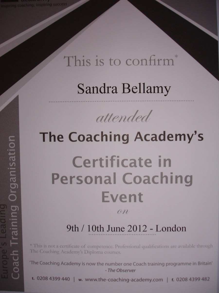 Certificate in Personal Coaching Event with The Coaching Academy