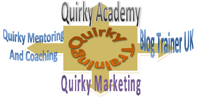 QUIRKY TRAINING HUGE LETTER LOGO
