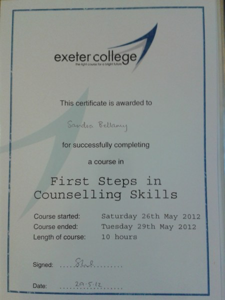 First Steps In Counselling Skills Certificate