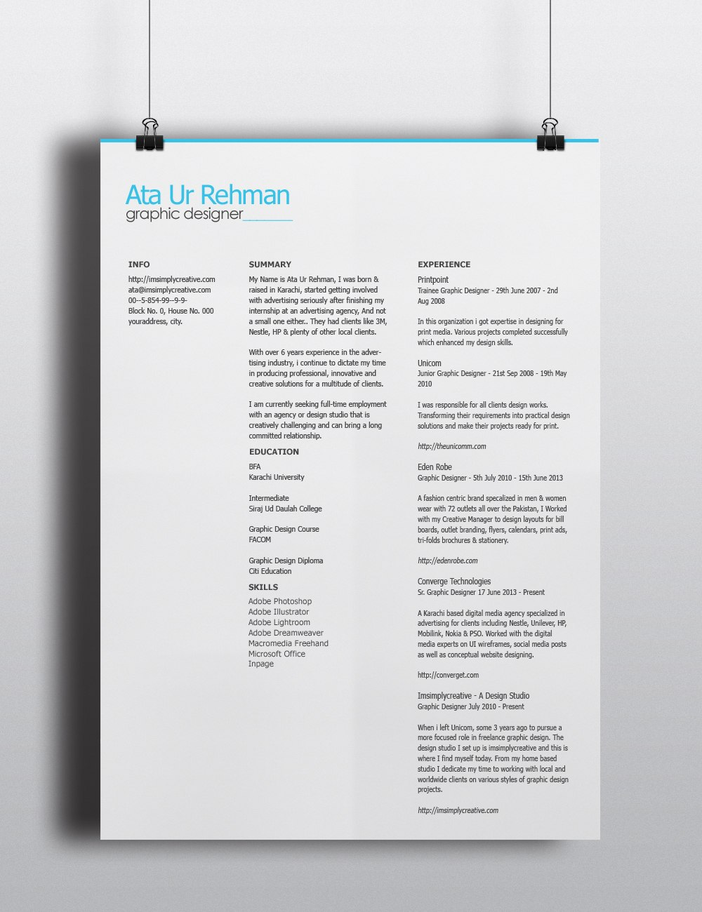 free-and-simple-and-minimalistic-resume-template