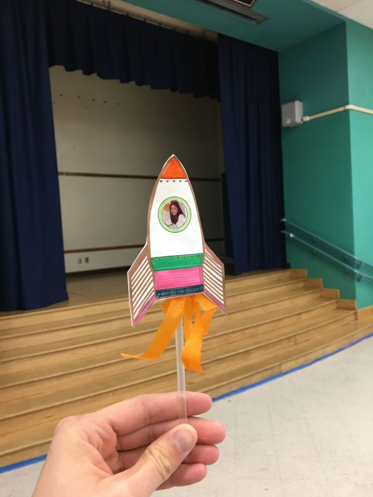 Reading to Kids & Making Paper Rockets
