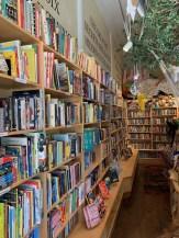 Many books at Charlie's Corner
