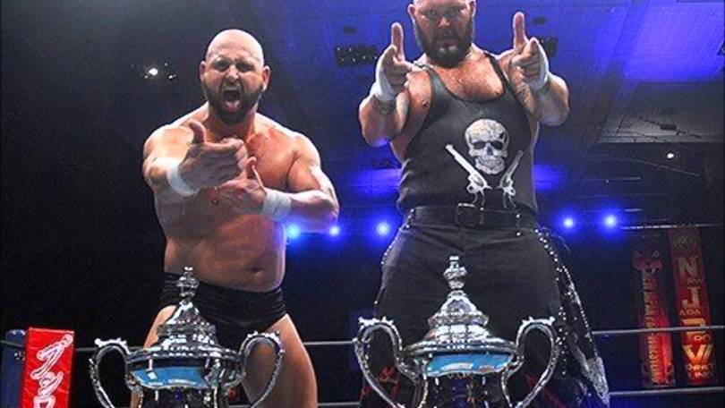 Doc Gallows and Karl Anderson during their NJPW run