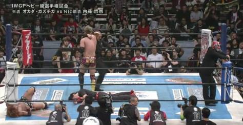 Naito vs Okada at NJPW invasion attack 2016