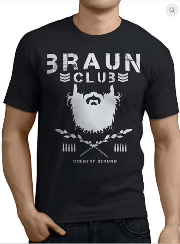 braun club t shirt - Braun Strowman joins the bullet club with this awesome mashup parody shirt from heelshirts.com